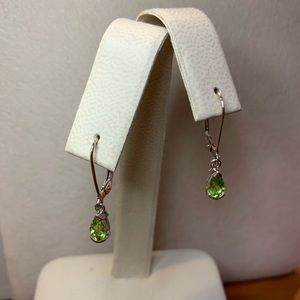 NWOT 14kt White Gold Peridot Earrings